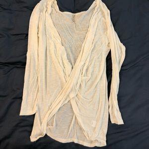 White open front shirt XS